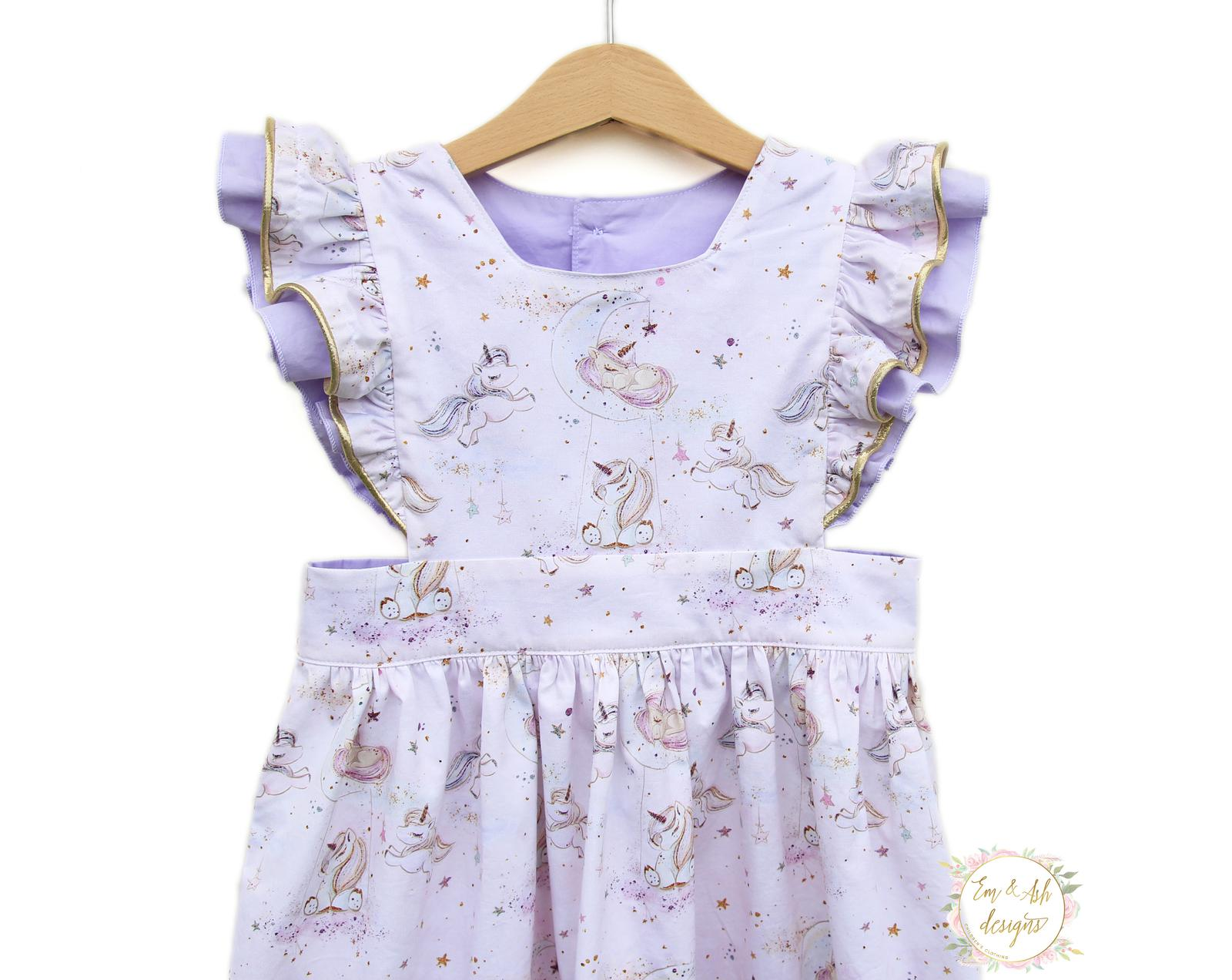 Dreamy unicorn pinafore dress