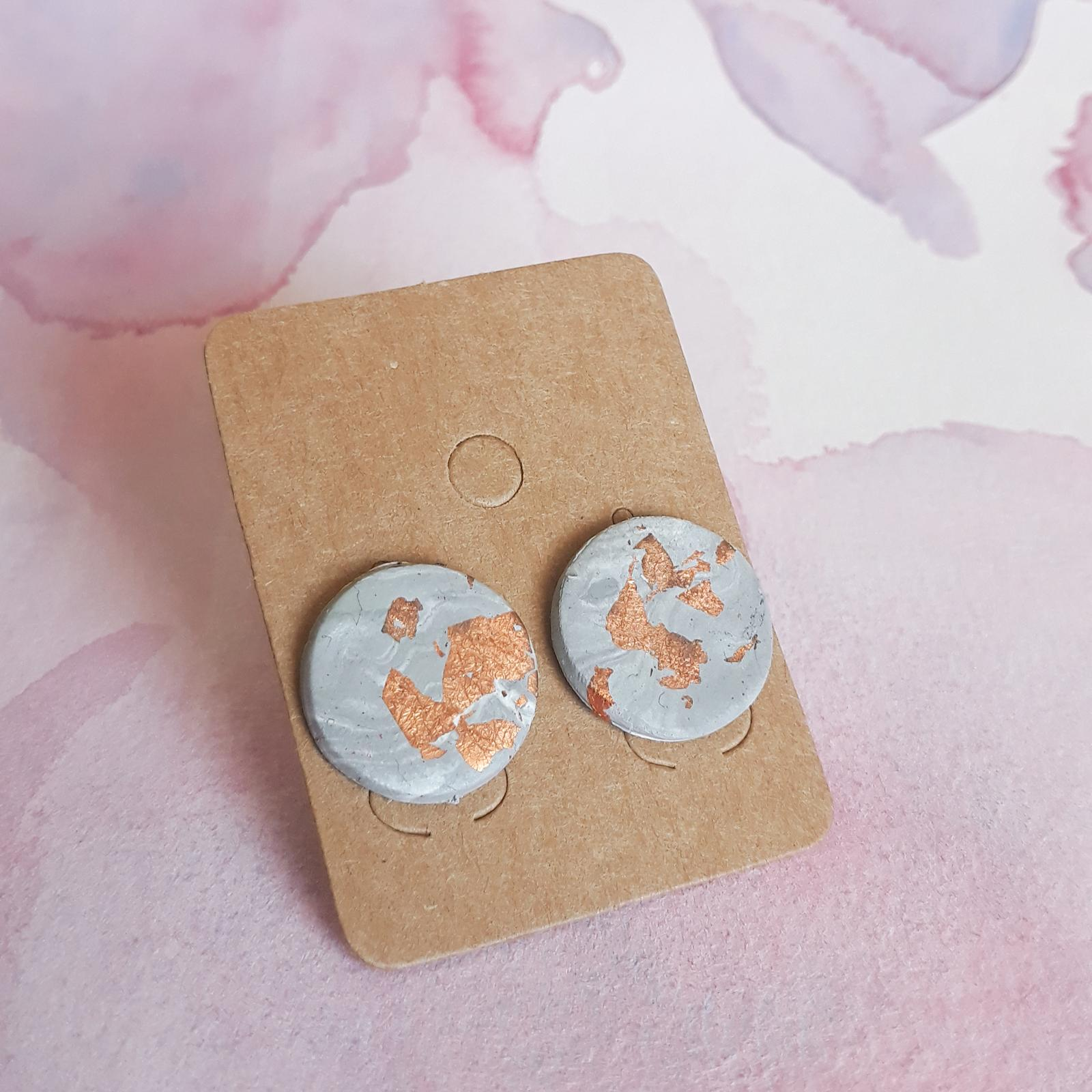 Grey And Copper Studs