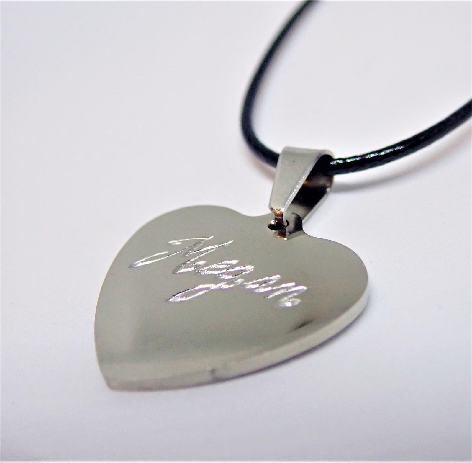 Hand Engraved Personalised Necklaces