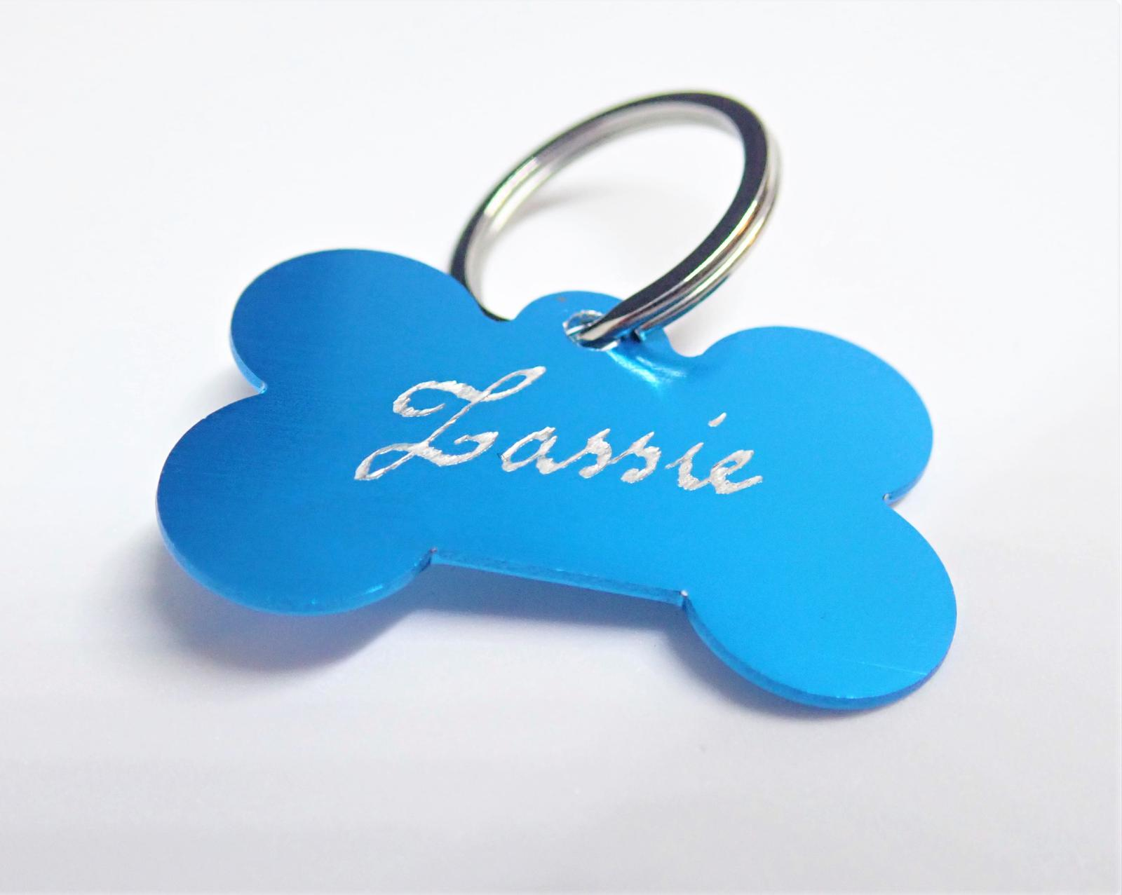 Hand Engraved Personalised Pet Tags - Bone Shaped