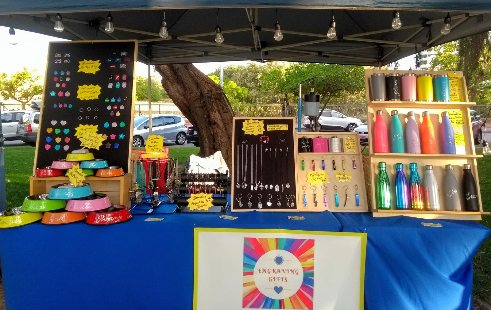 Outdoor market set-up