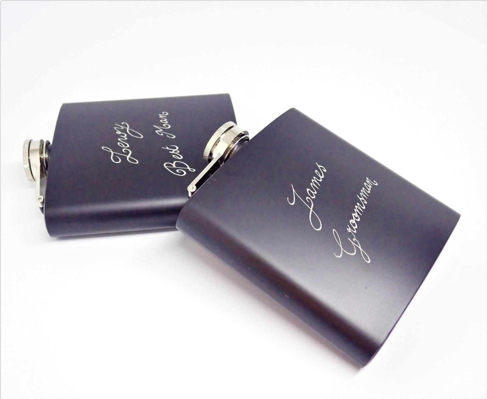 Hand Engraved Personalised Hip Flasks
