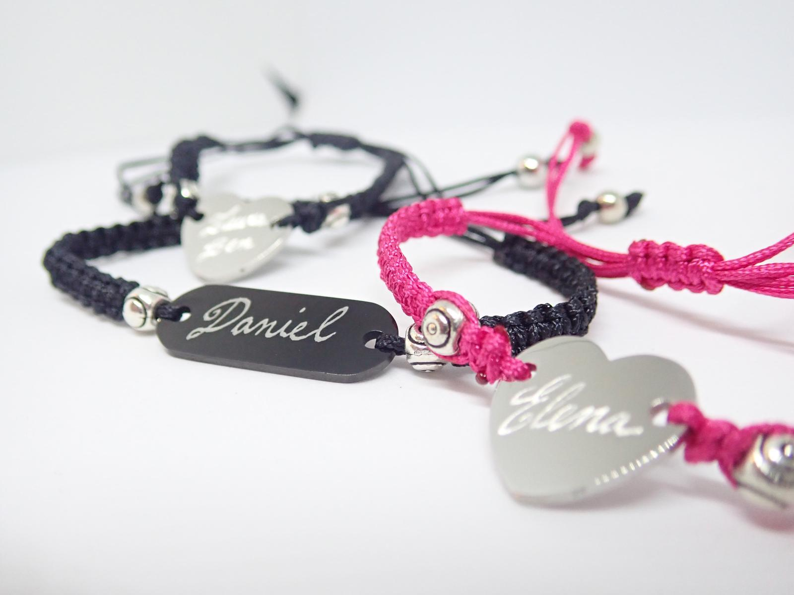 Hand Engraved Personalised Bracelets