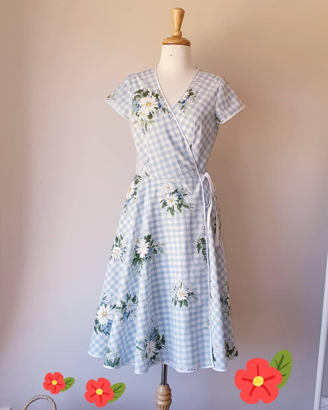Vintage Quilt Cover Becomes A Super Cute Wrap Dress!