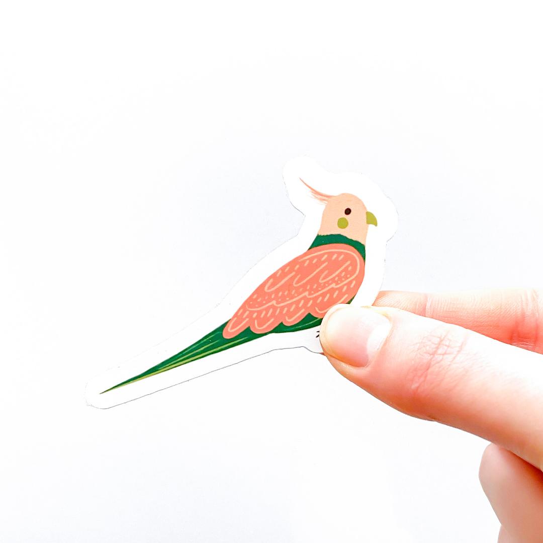 Colourful Cockatiel Sticker