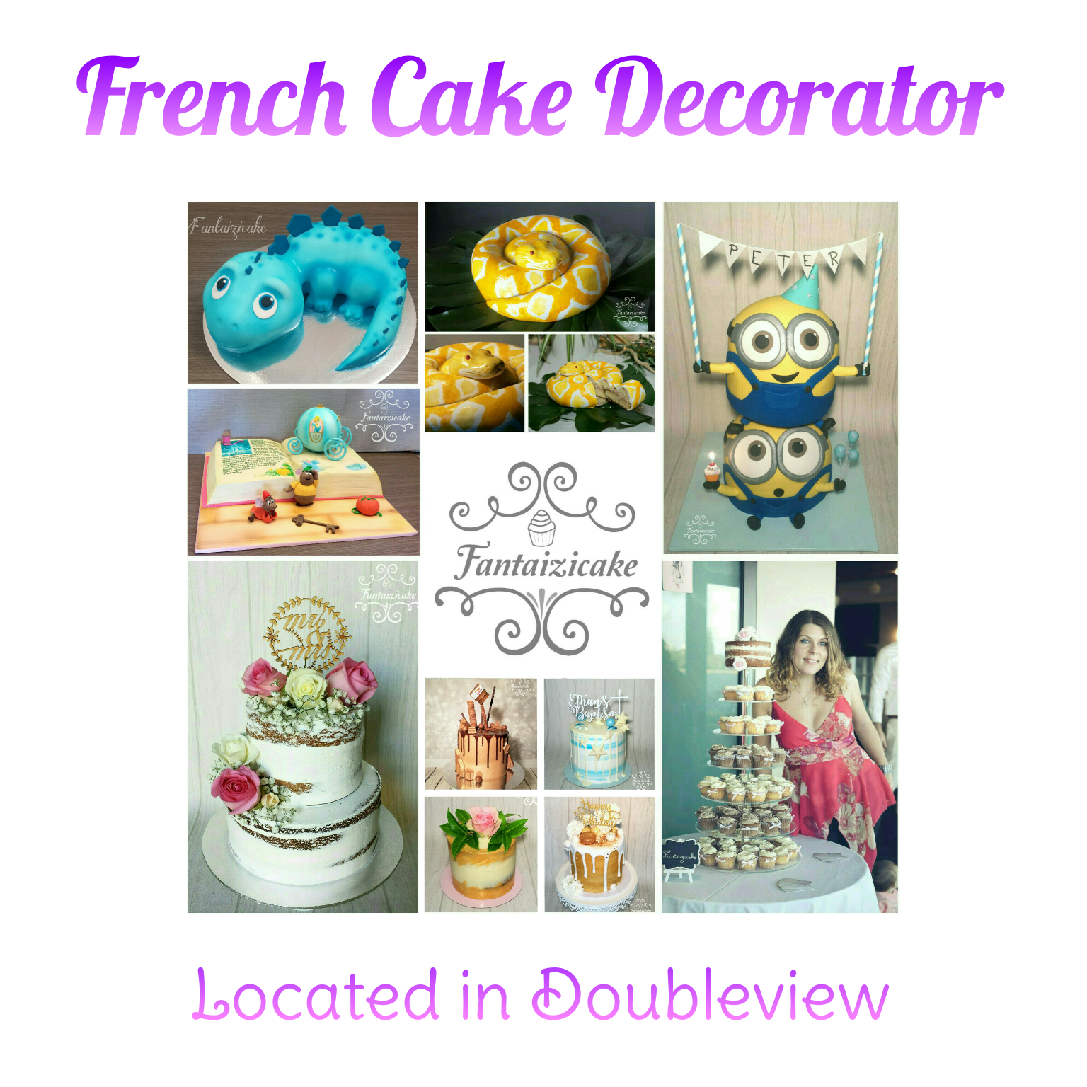 French cake decorator