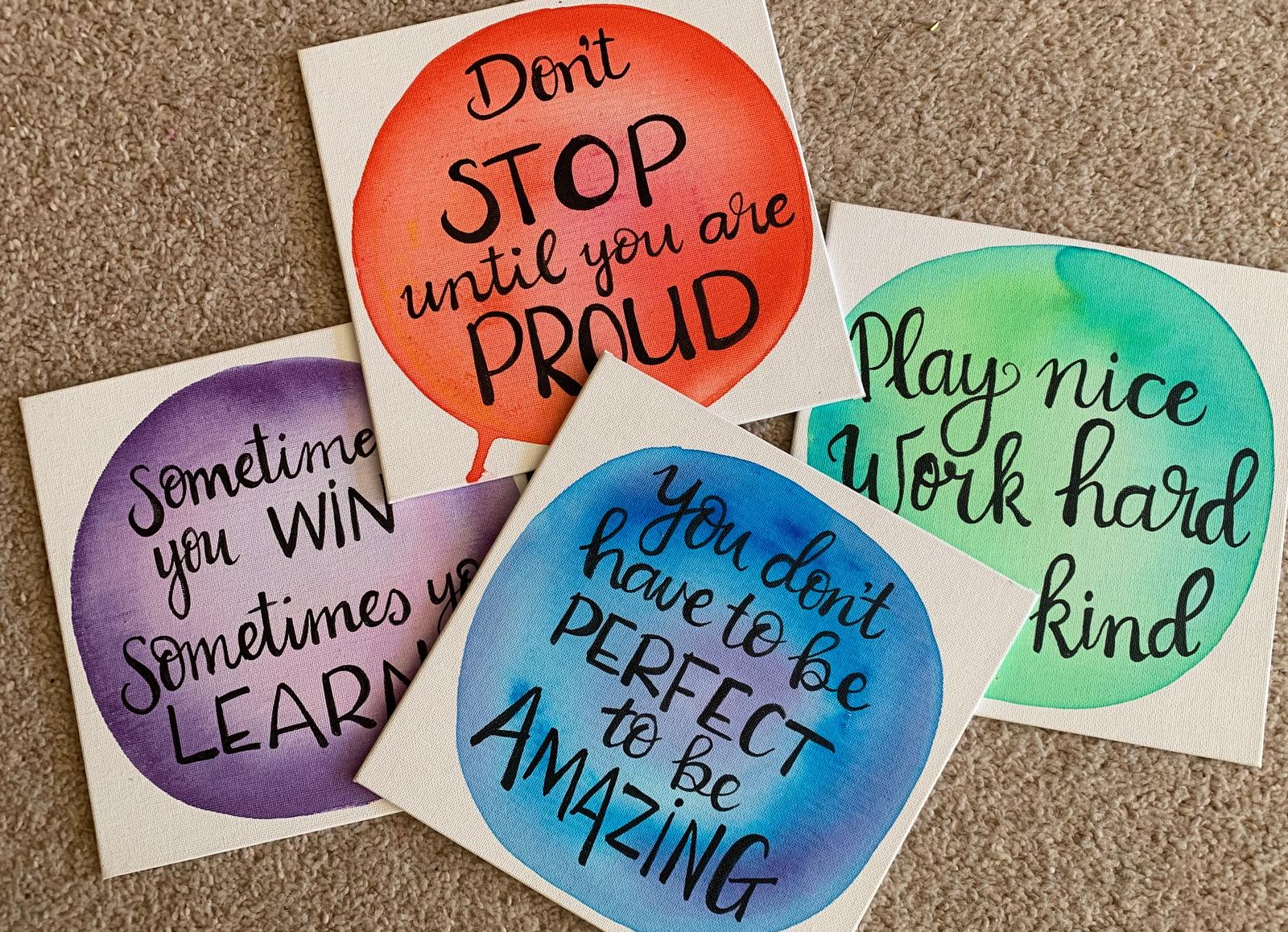 Hand painted inspirational quotes