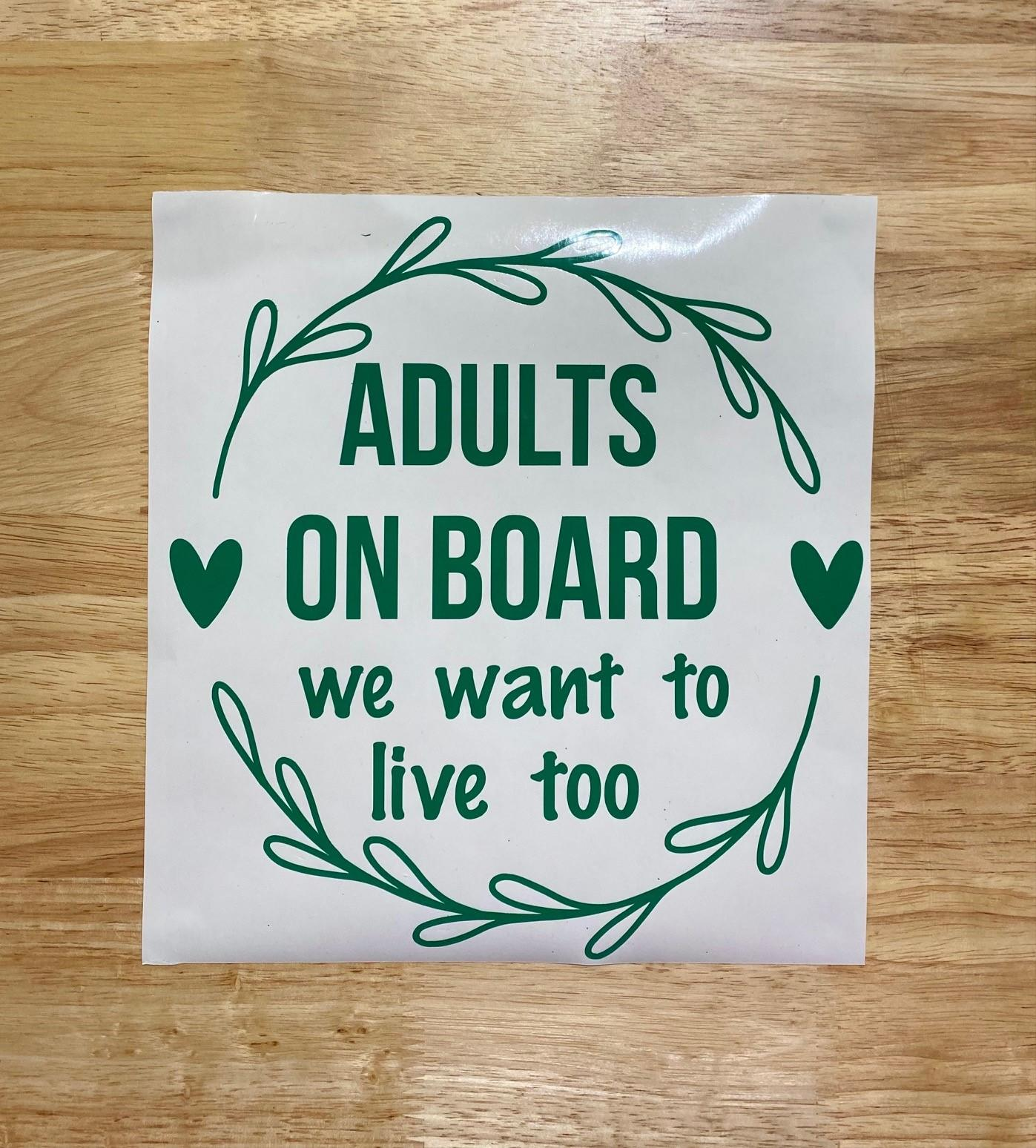 Adults on board car sticker