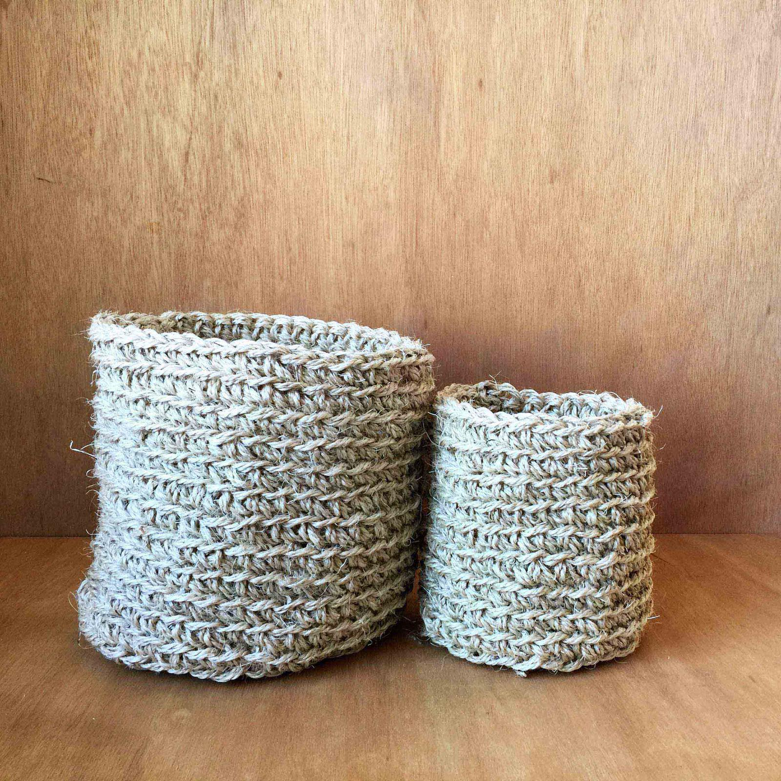 Hand made sisal baskets – small.