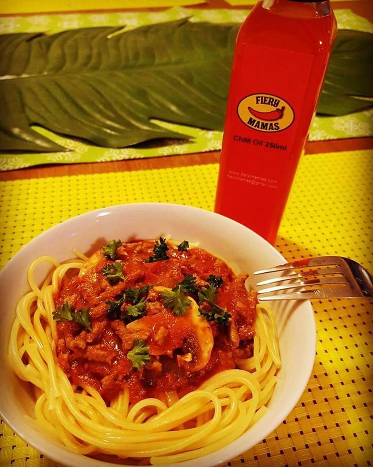Spaghetti with Chilli Oil