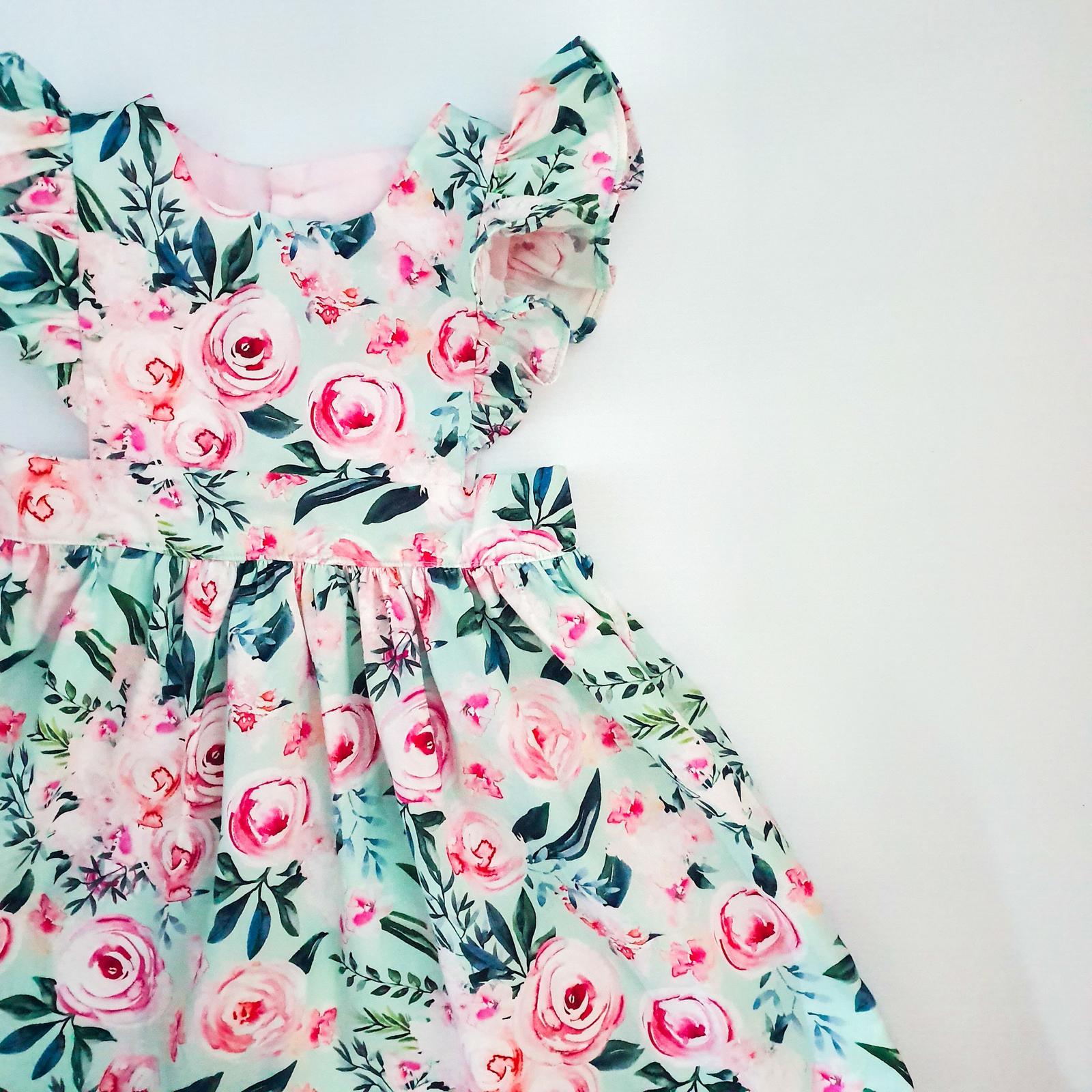 Elsie Ruffle Pinafore - Bloom