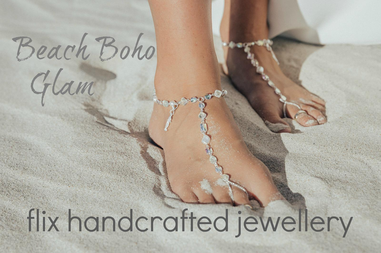 "Barefoot Sandal from my ""Beach Boho Glam' Collection"