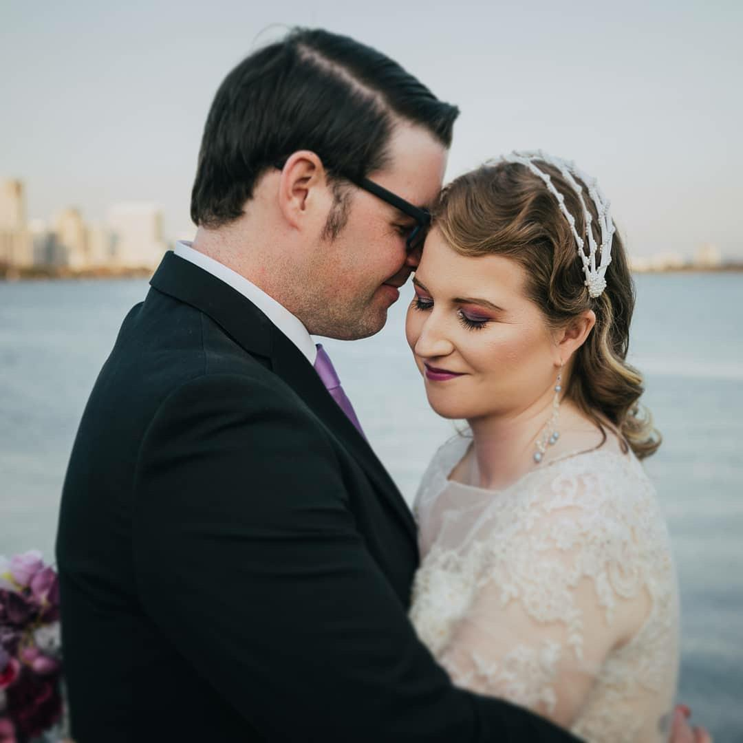Flix Earrings for Michelle's special day. Photo by Simone Addison Photography