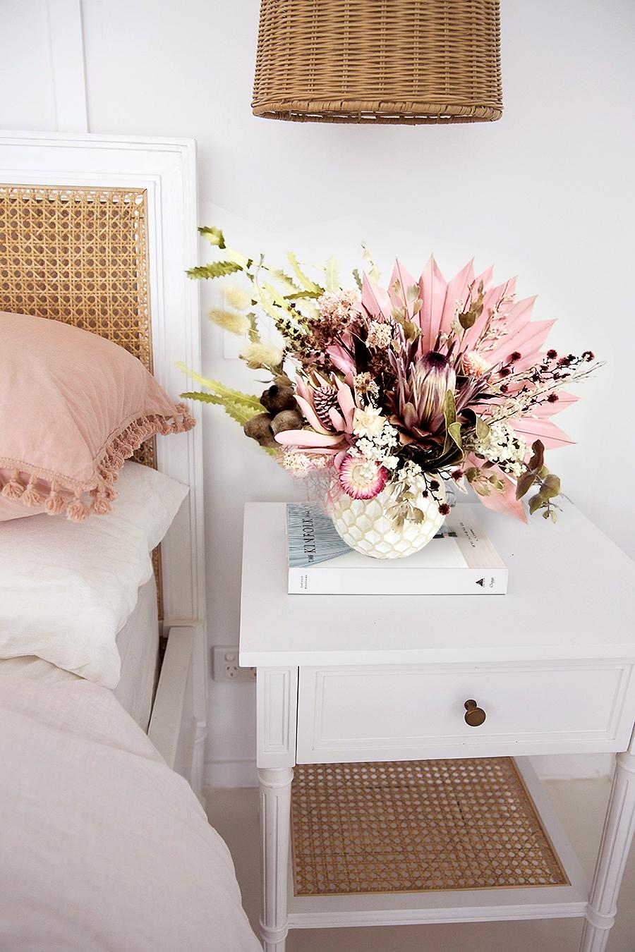 Pretty in Pink forever arrangement styled