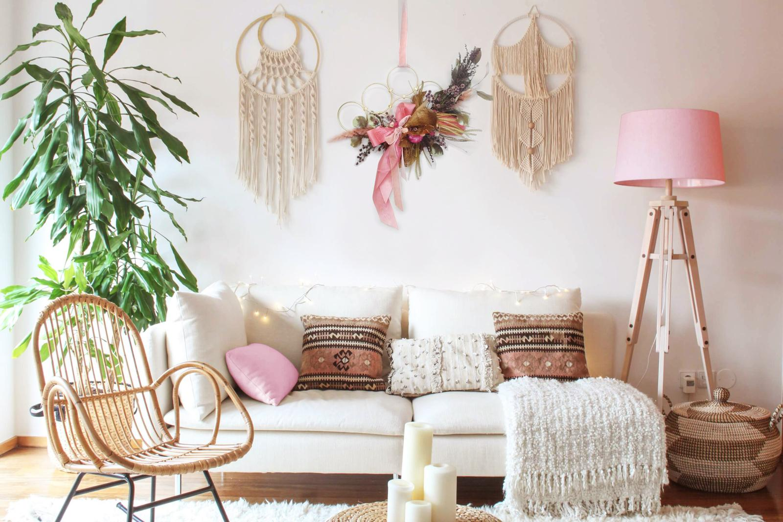 wall art forever florals pink boho