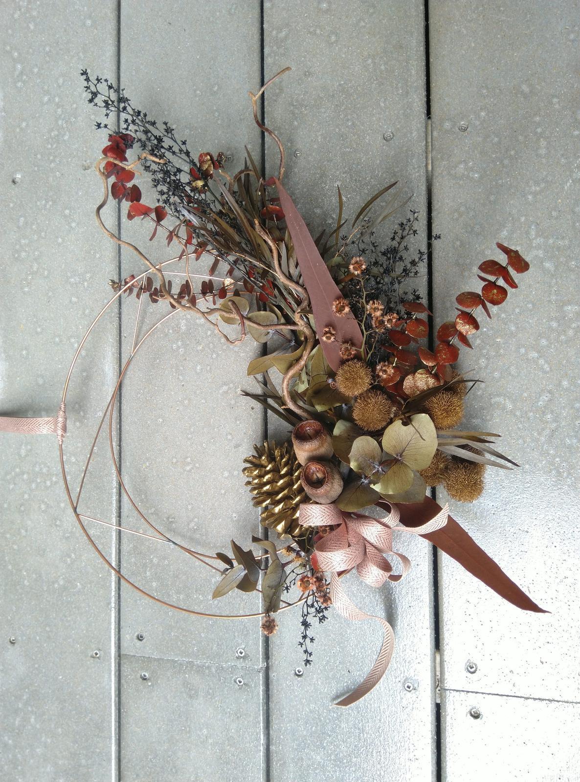 natural copper wreath