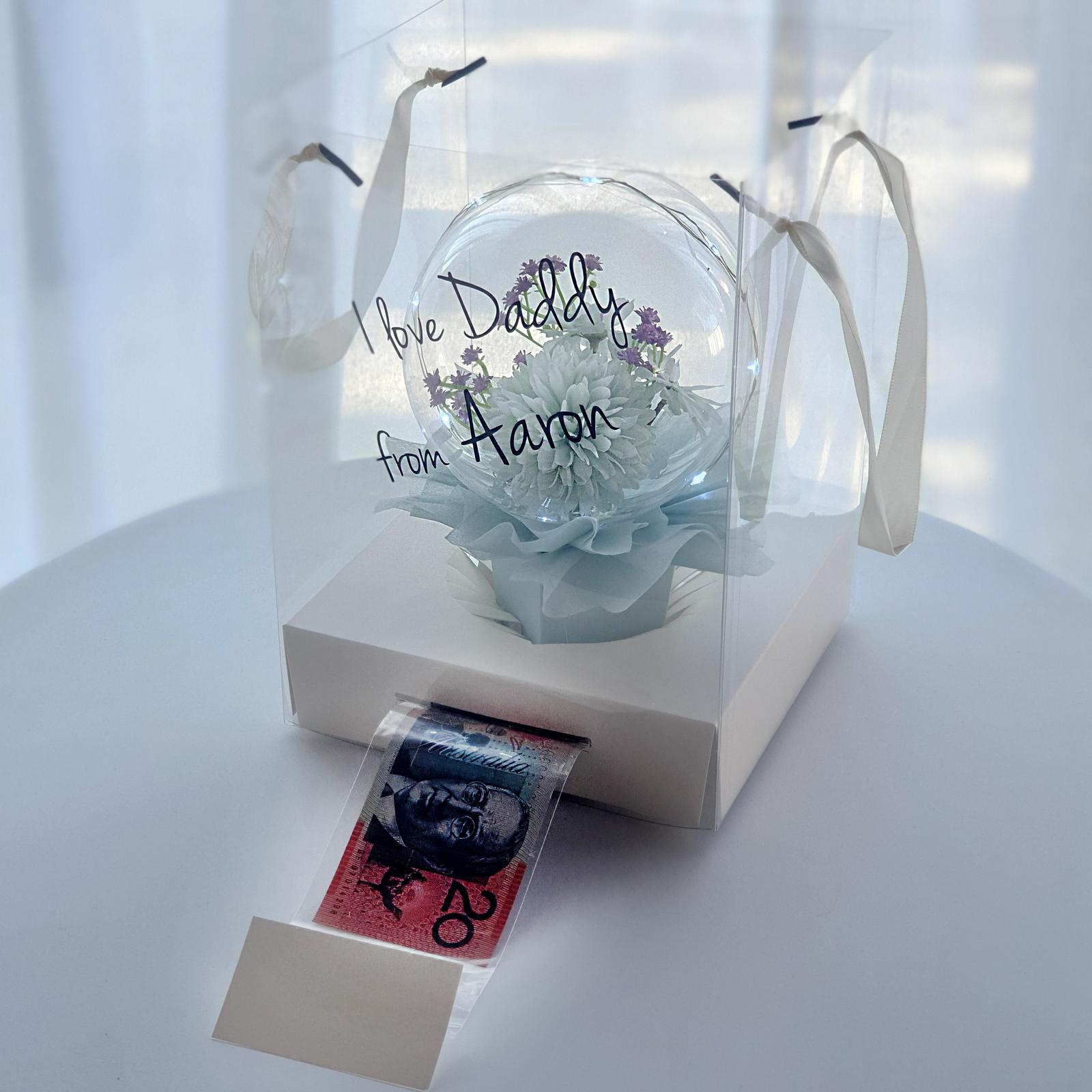 single flowerballoon money carrybag