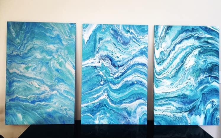 Trios 90x60cm each