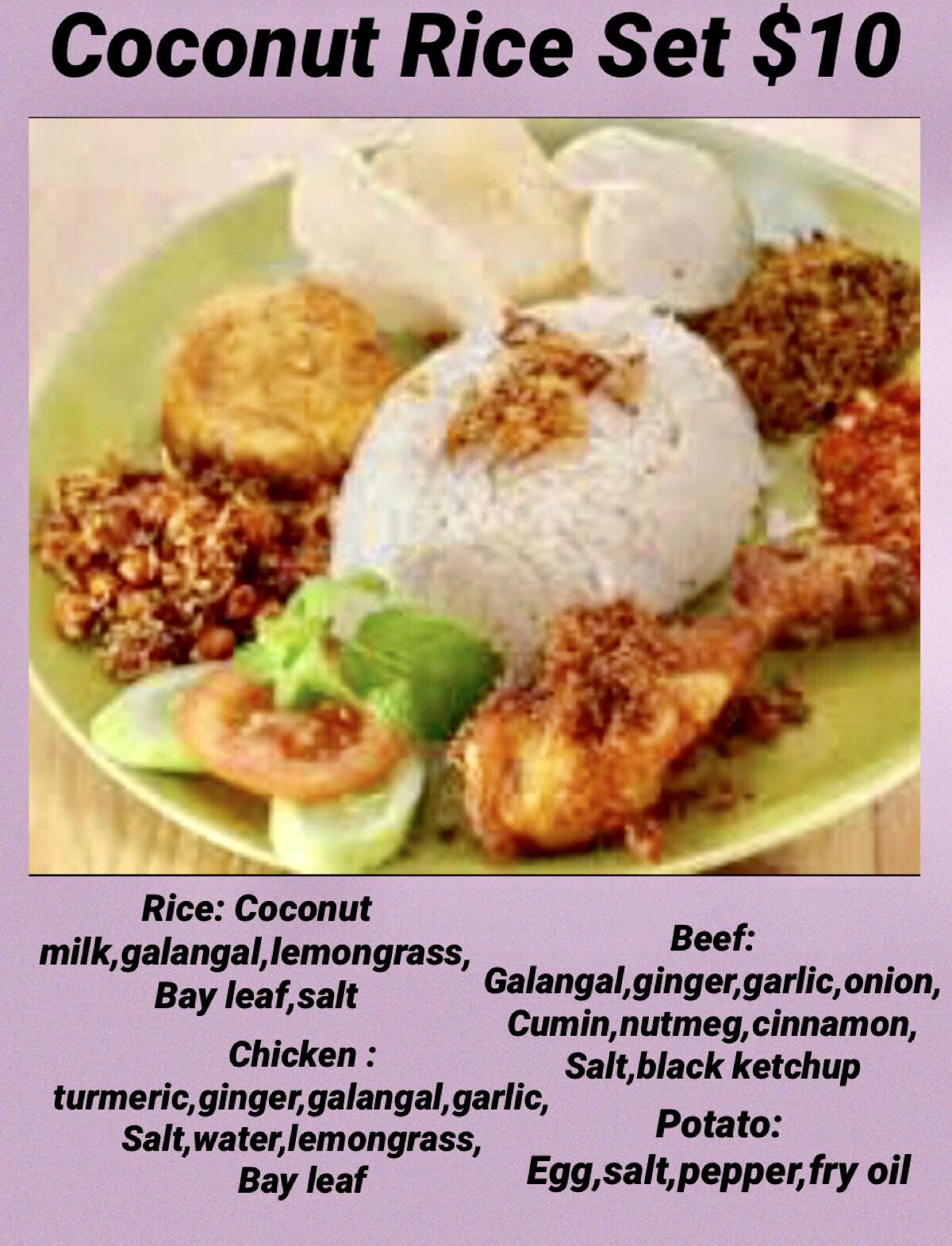 Coconut Rice Platter