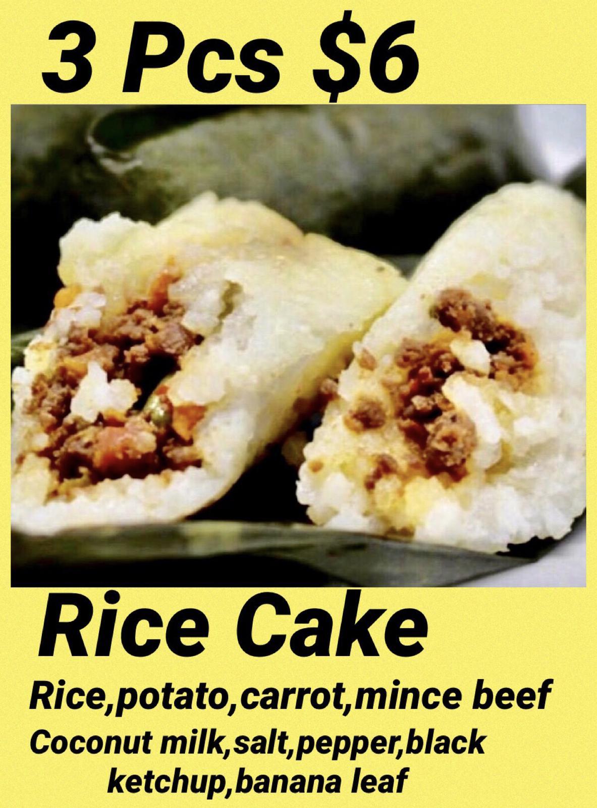 Rice Mince Beef Cake