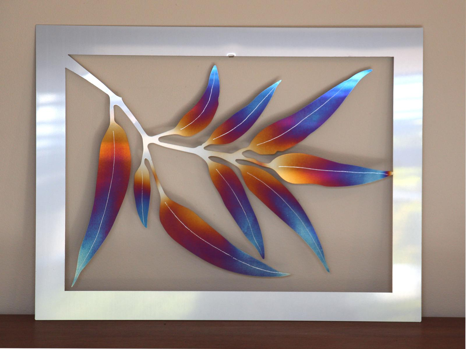 Galaxia Metal leaf wall art