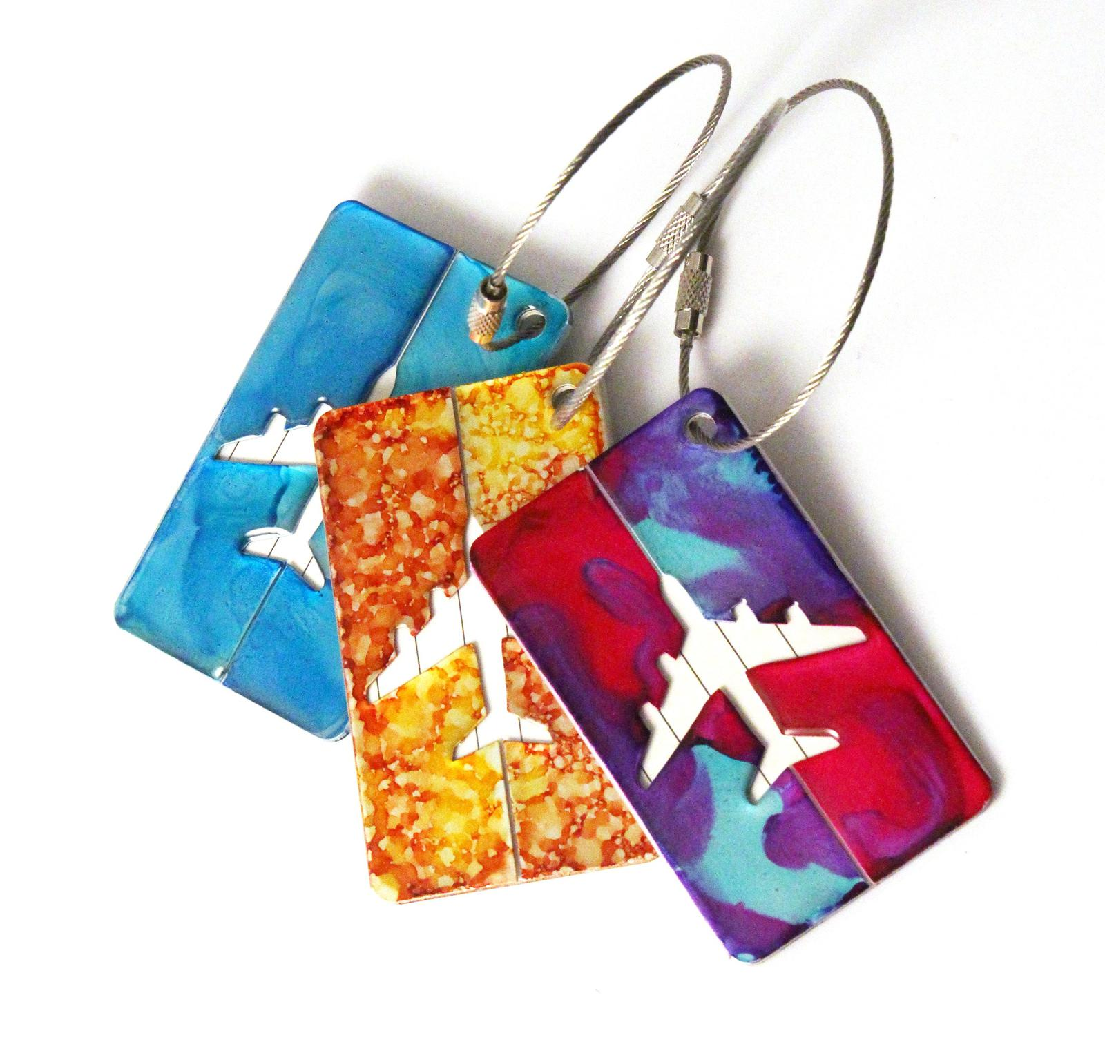 Galaxia Metal luggage tags
