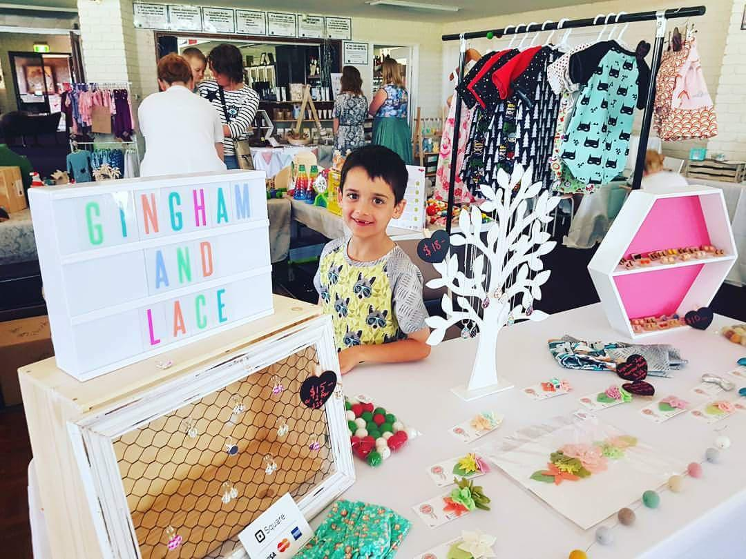 My market set up - with my number one assistant