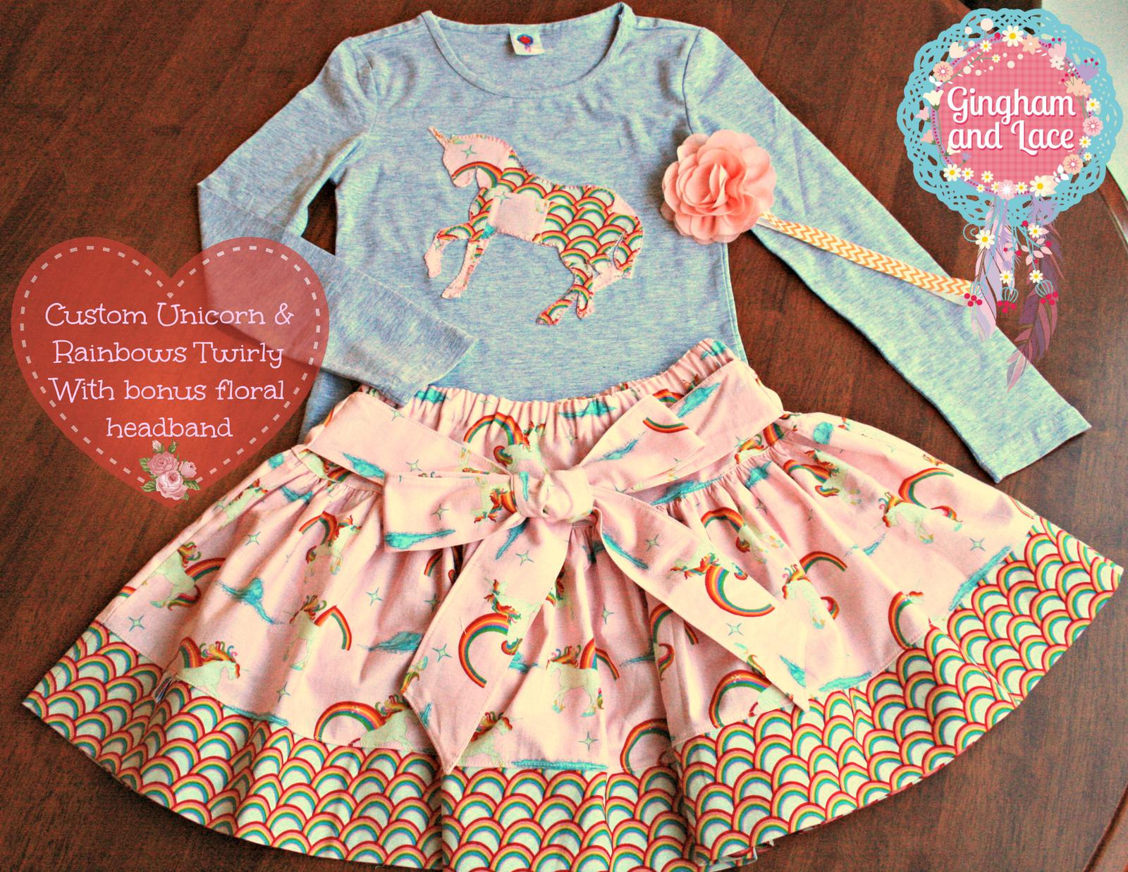 Twirly skirt and top combo
