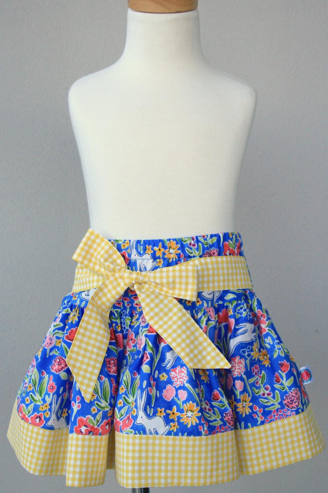 Bunnies in Bloom Twirly Skirt