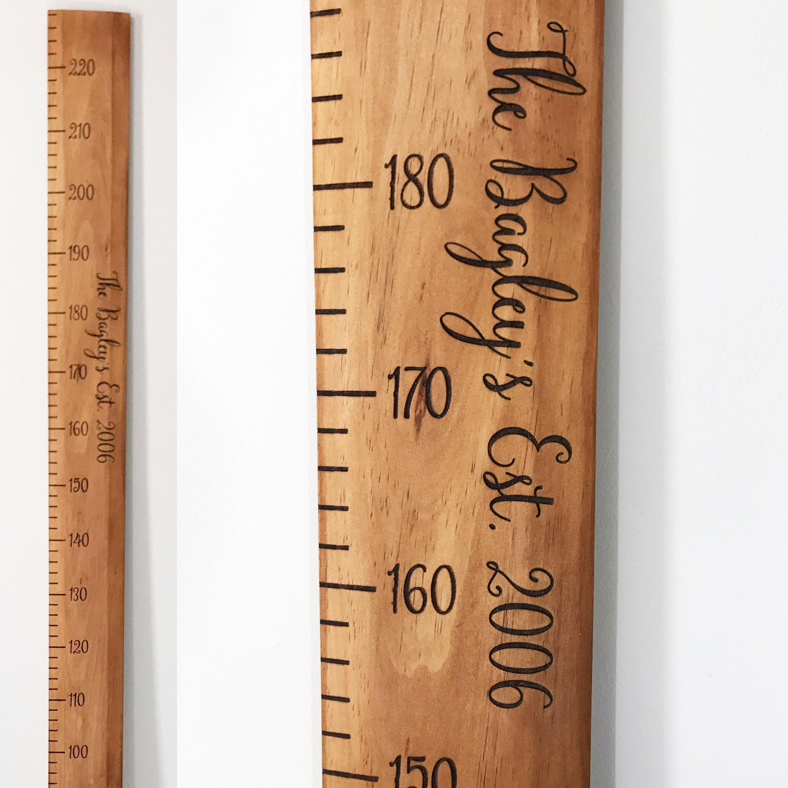 Custom Lasered Height Ruler