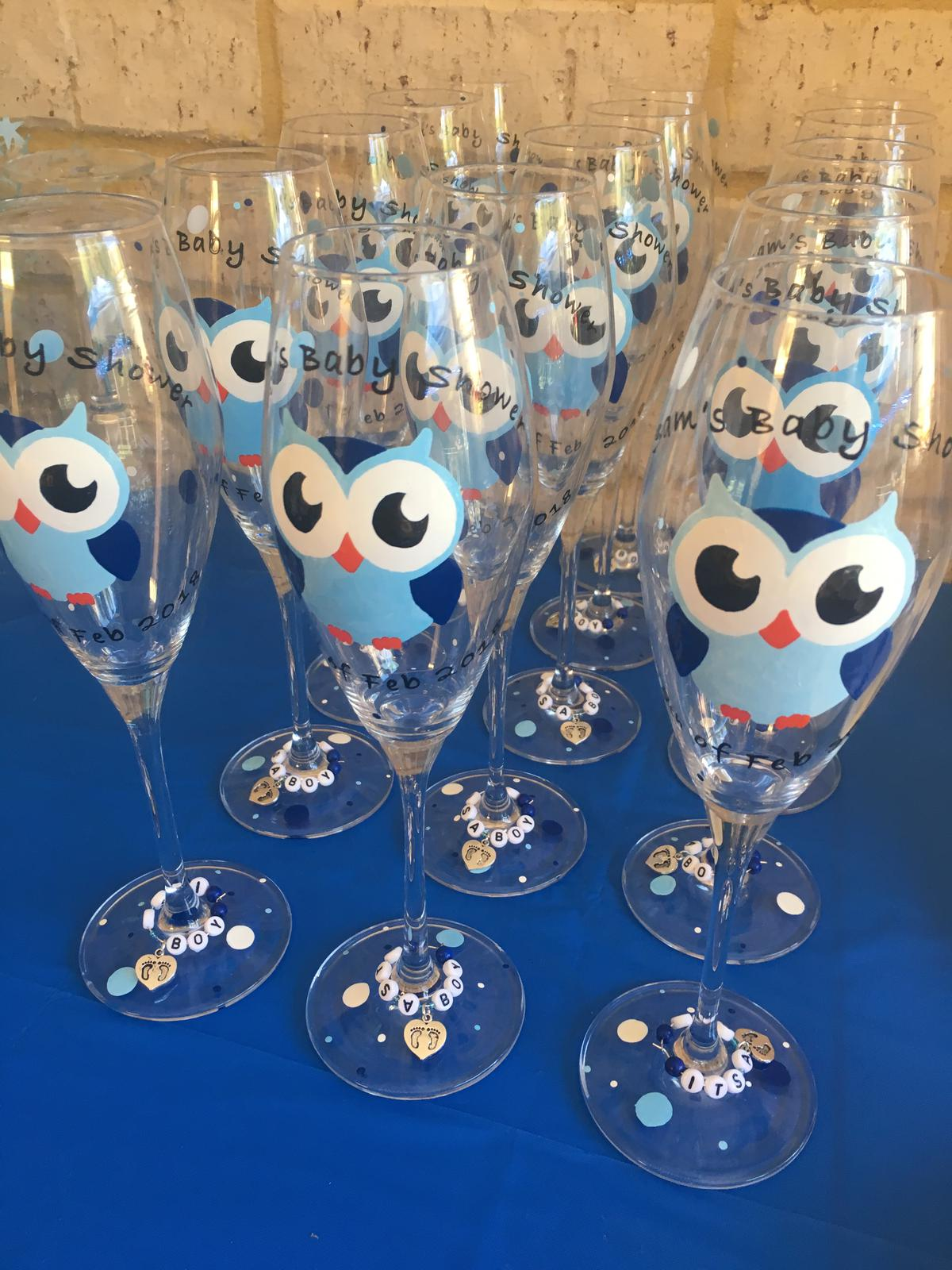 bulk baby shower glasses