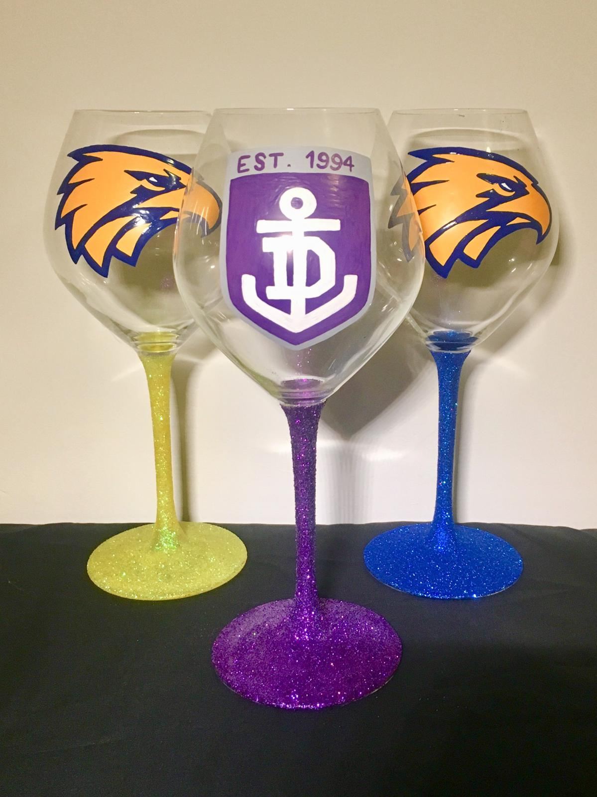 afl team glasses