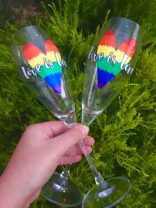 Glass Half Full - Hand Painted Glasses by Bec