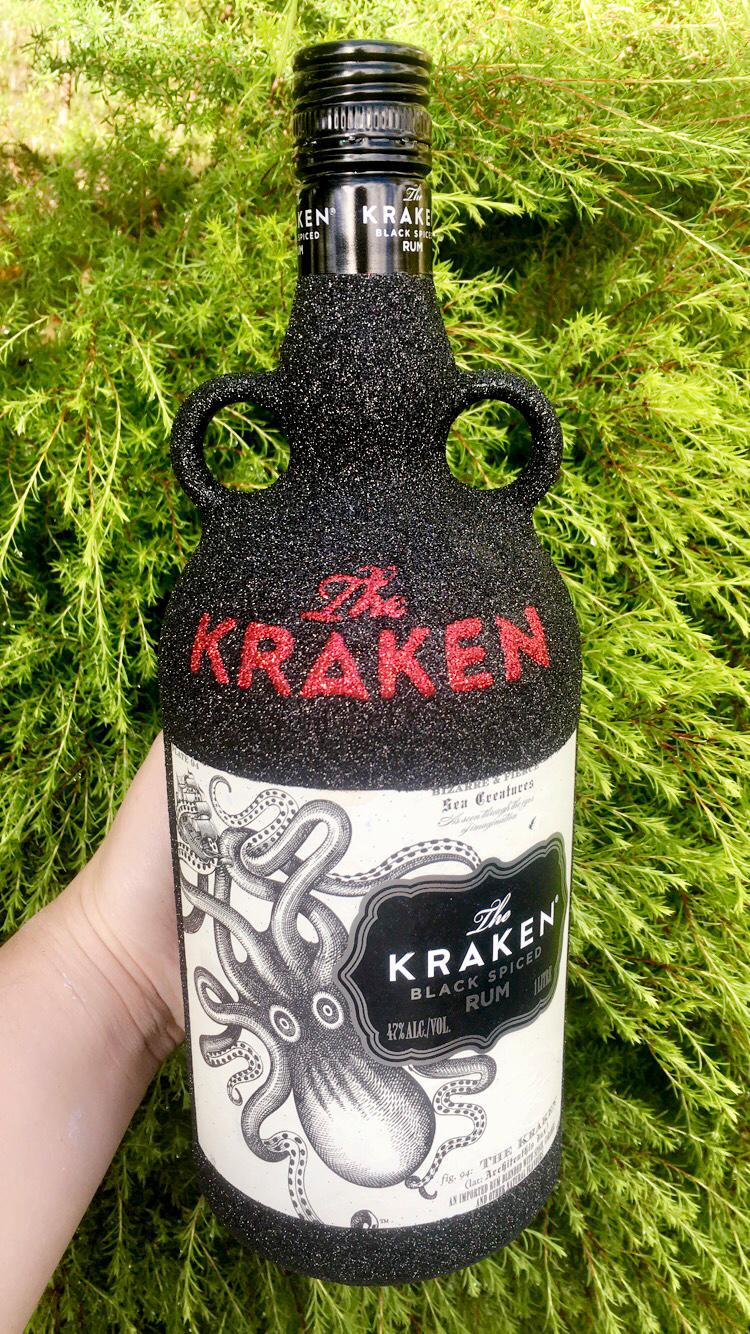 kraken glitter bottle
