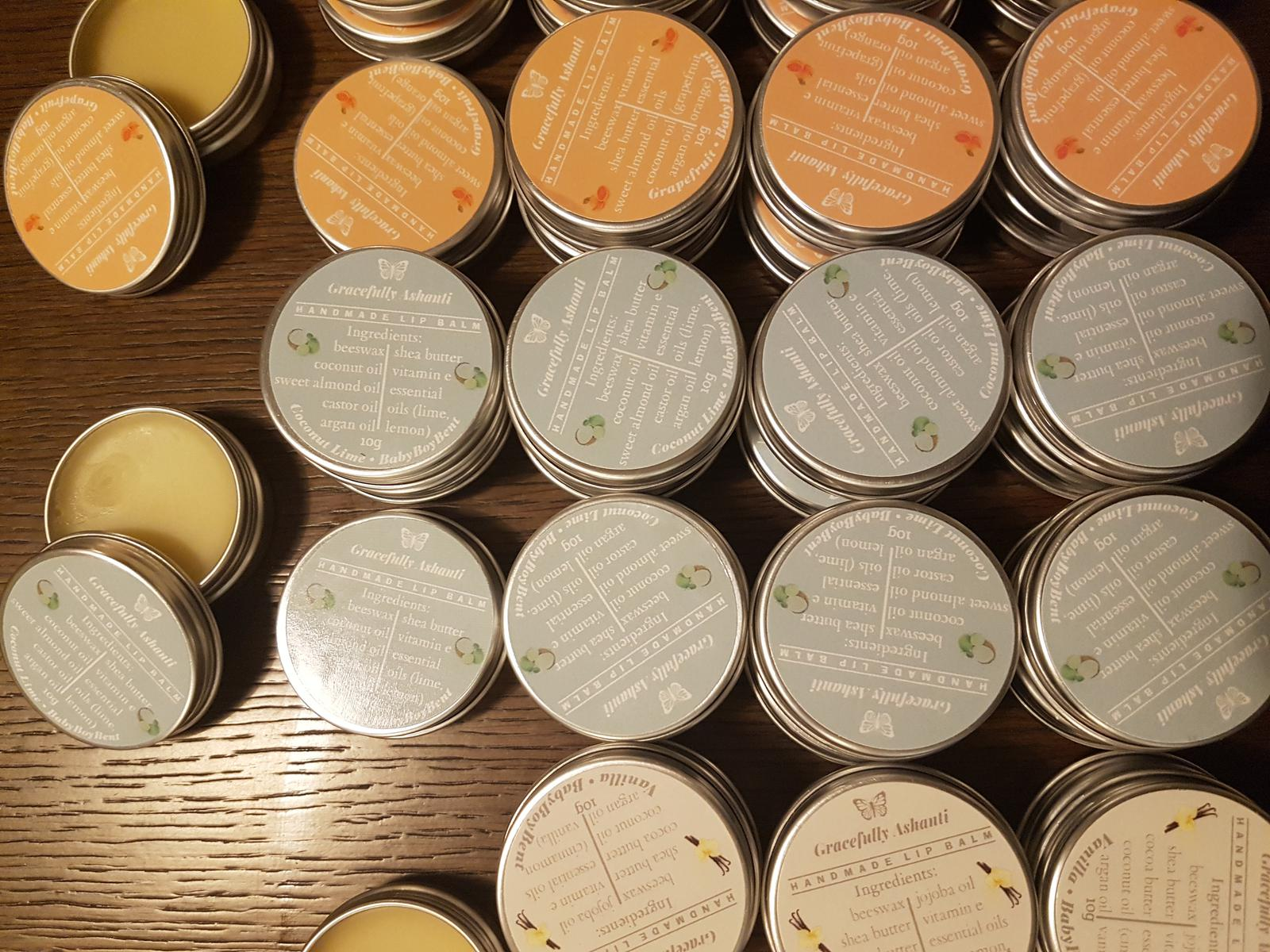 Custom baby shower order - BabyBoyBent - lip balm