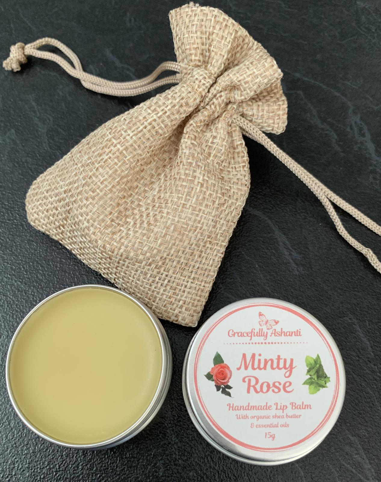 Lip Balm - Minty Rose