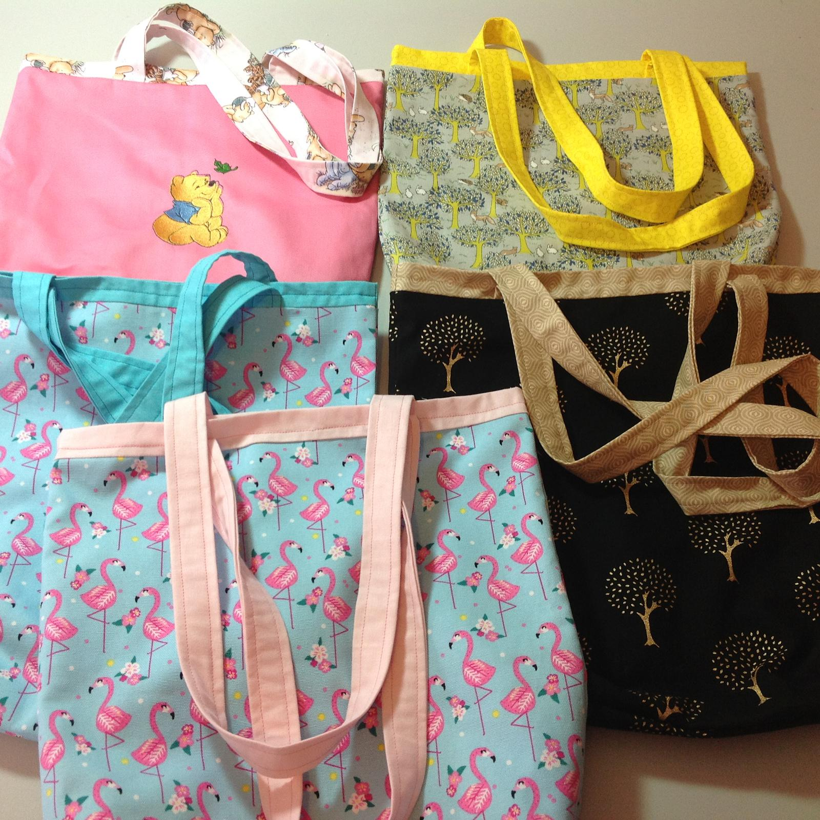 Children's and adult tote bags