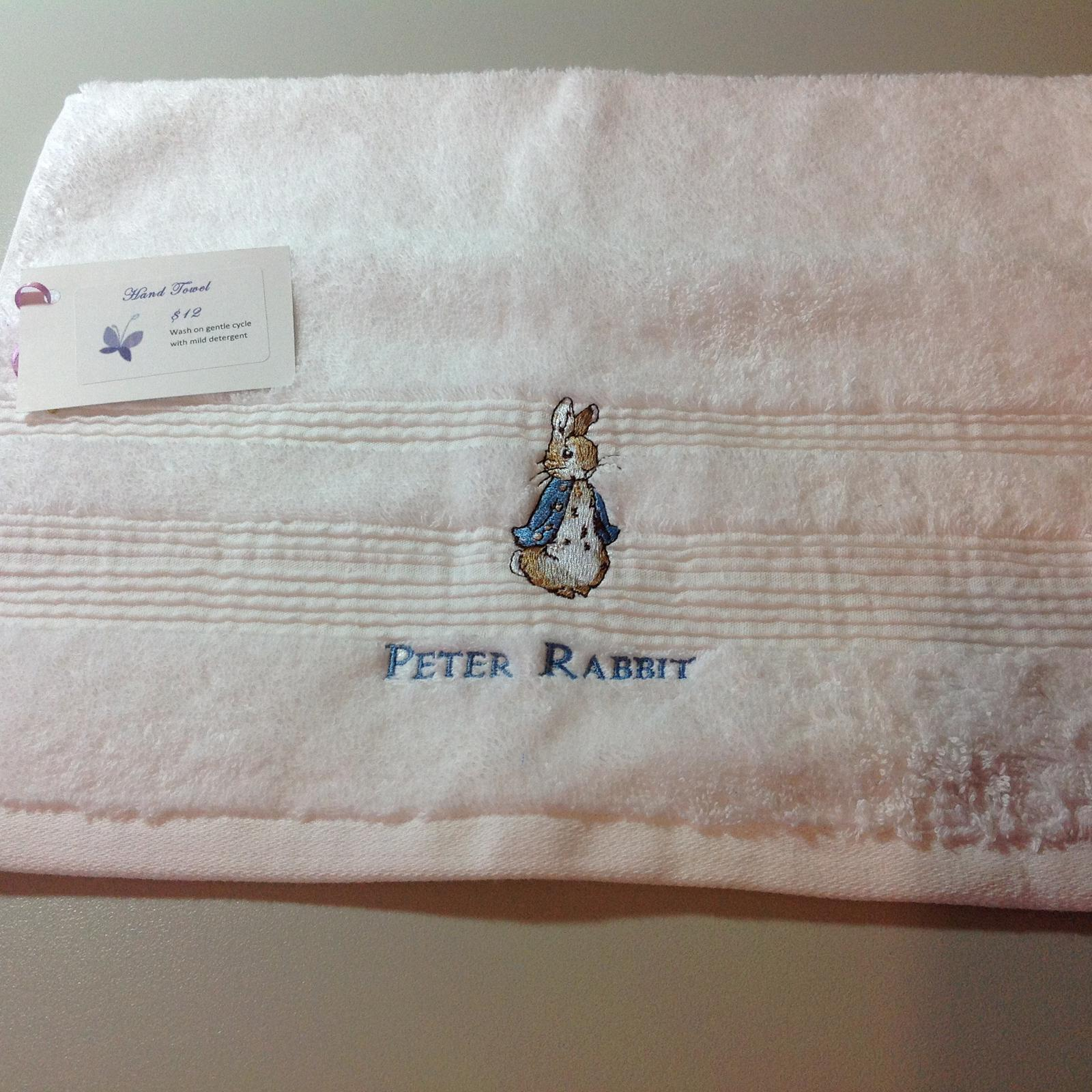 Peter rabbit hand towel