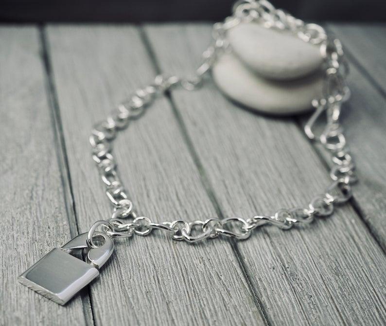 punk lock necklace