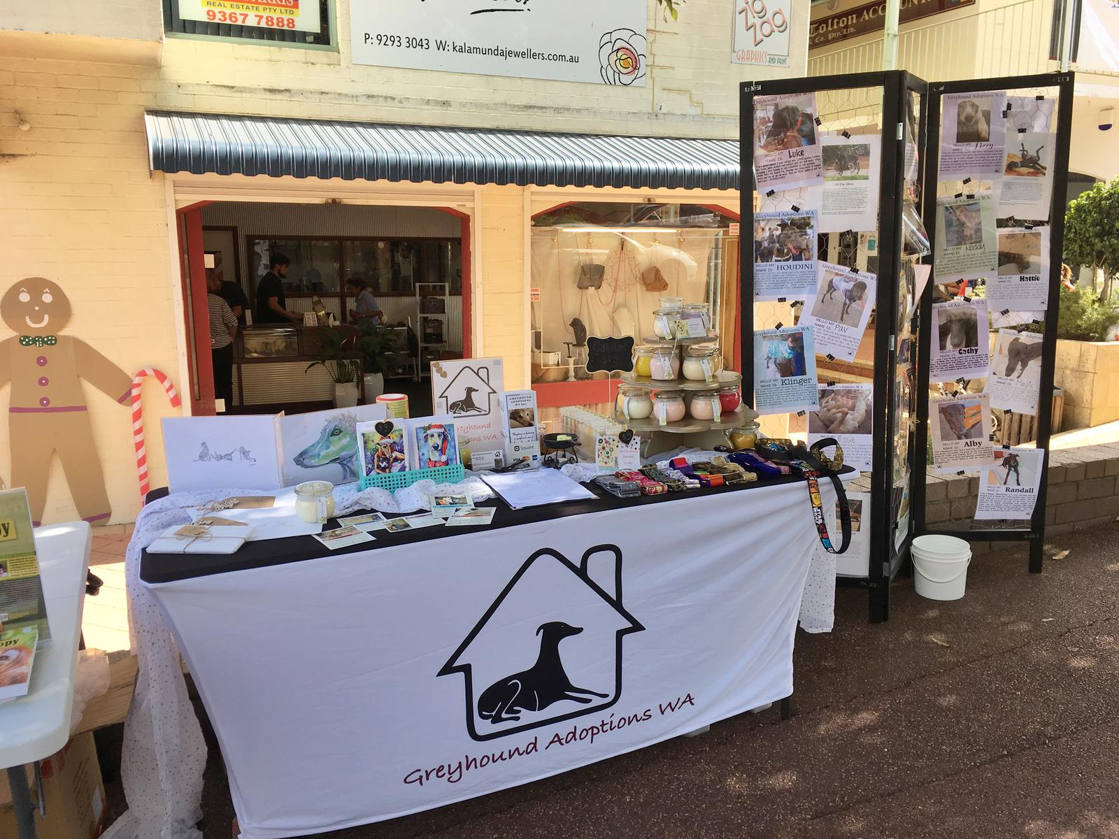 Greyhound Adoptions WA Stall 1