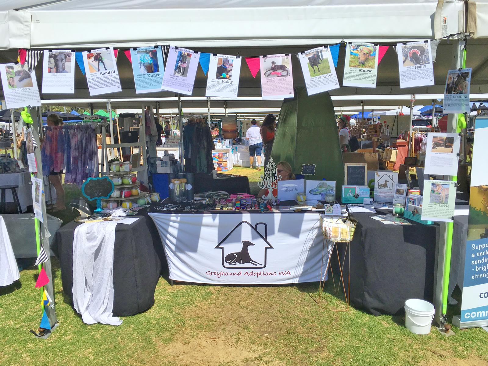 Greyhound Adoptions WA Stall 2