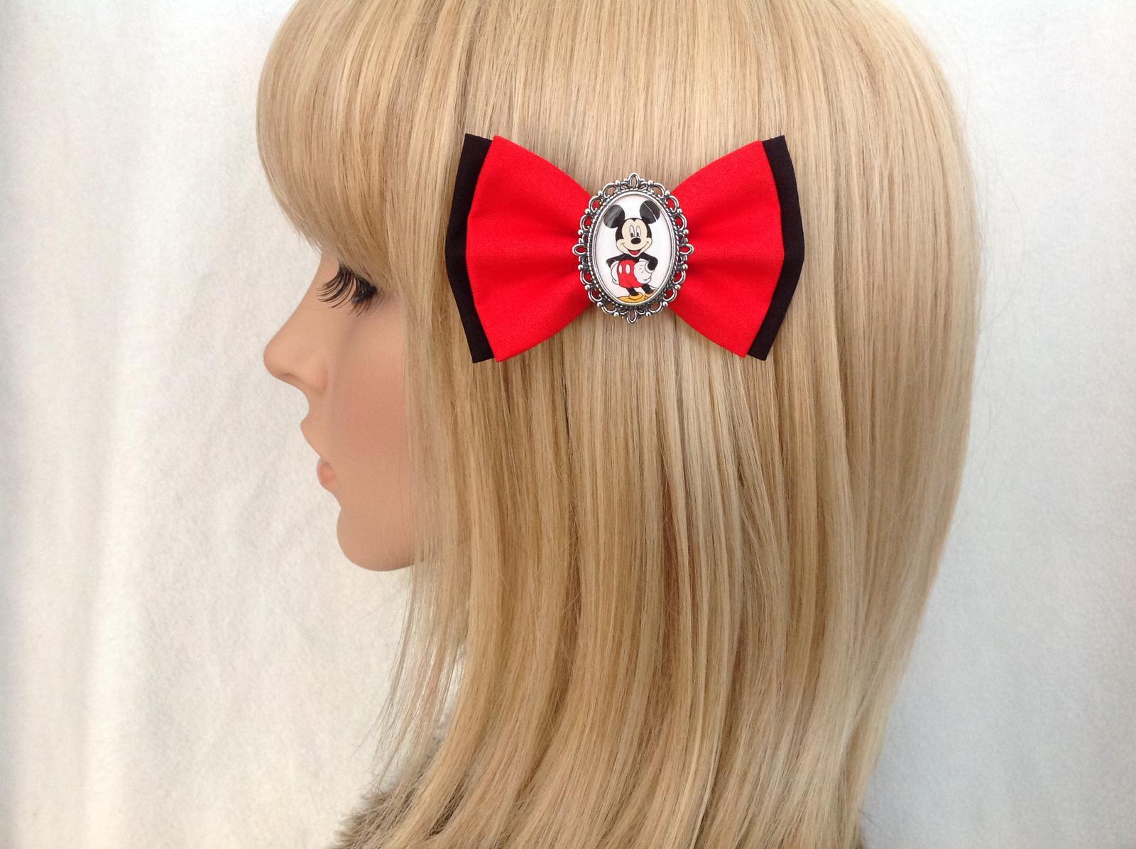 Mickey Mouse hair bow