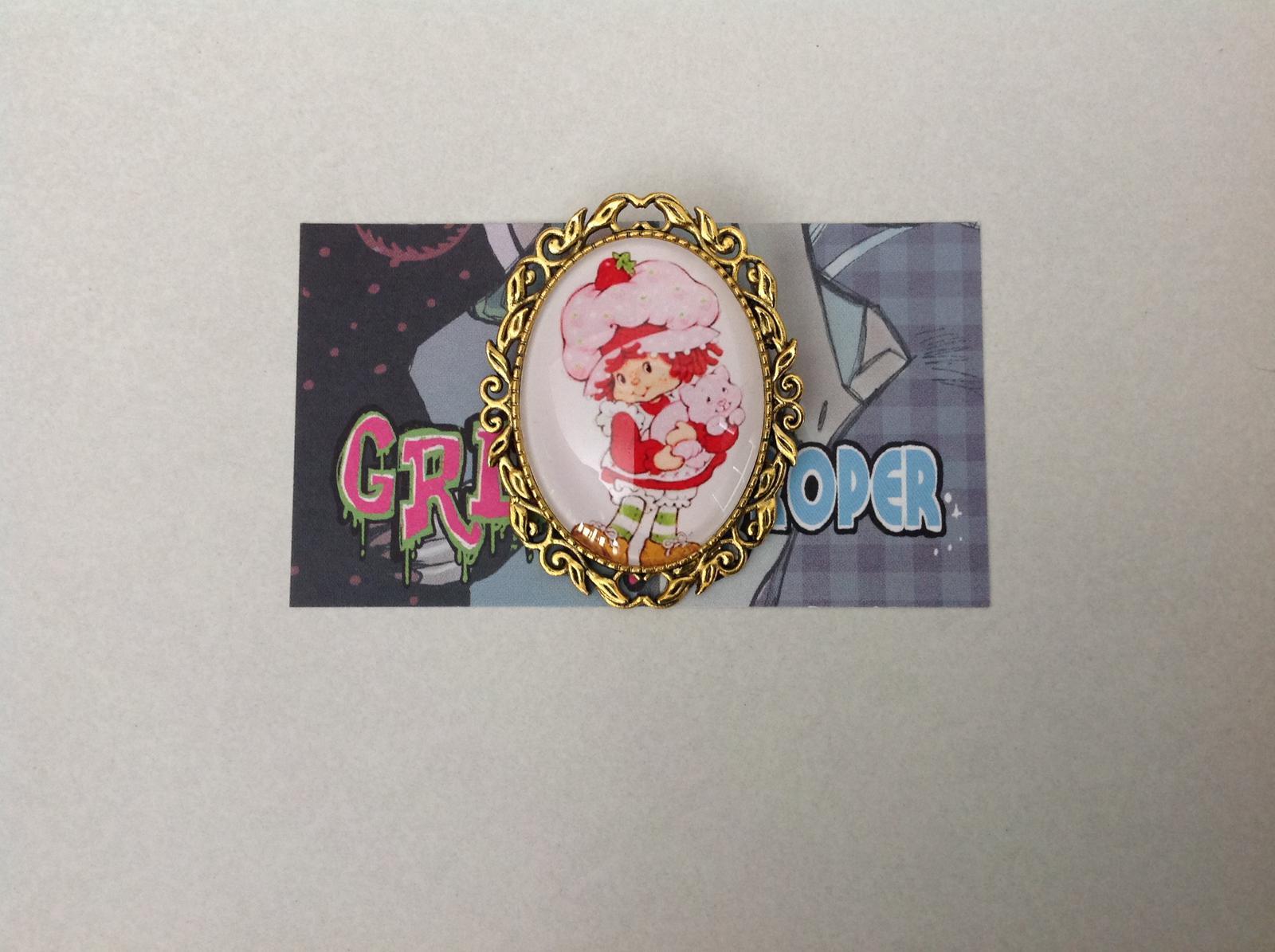 Strawberry Shortcake brooch