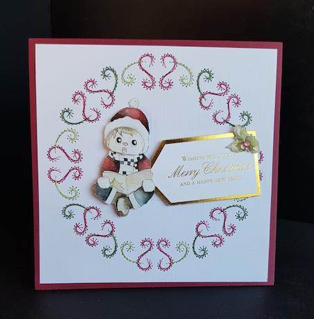 Embroidered Christmas Card
