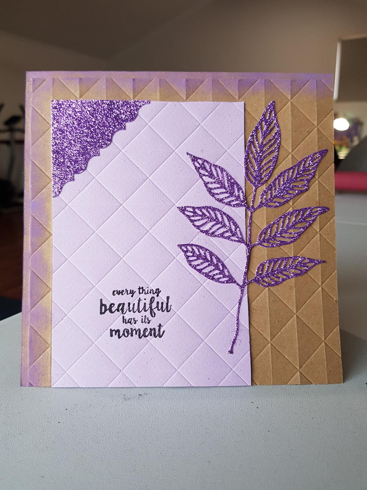 Beautiful Moment - Embossed Card
