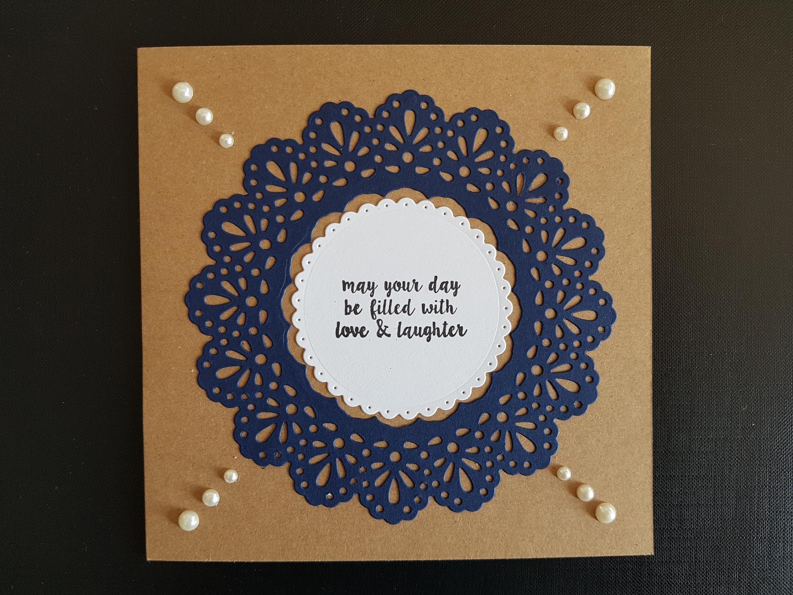 Love & Laughter - Die Cut Card