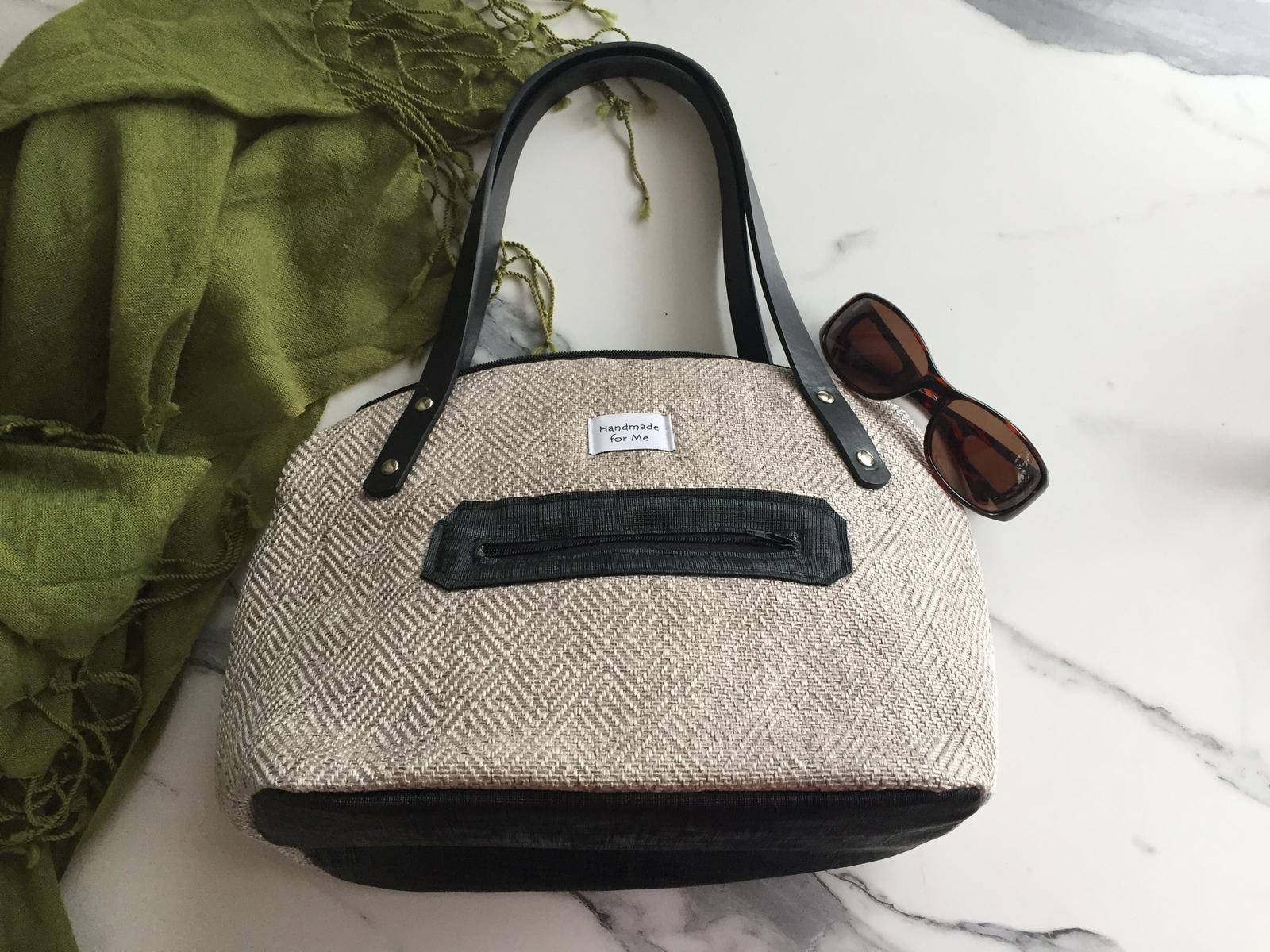 Silver handbag, Australian Aboriginal print, funky fabric purse, eco friendly