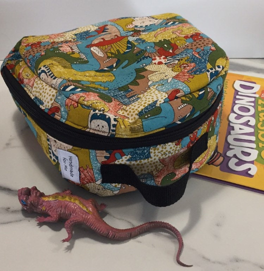 Dinosaur Print Insulated Washable Reuseable Lunchbag