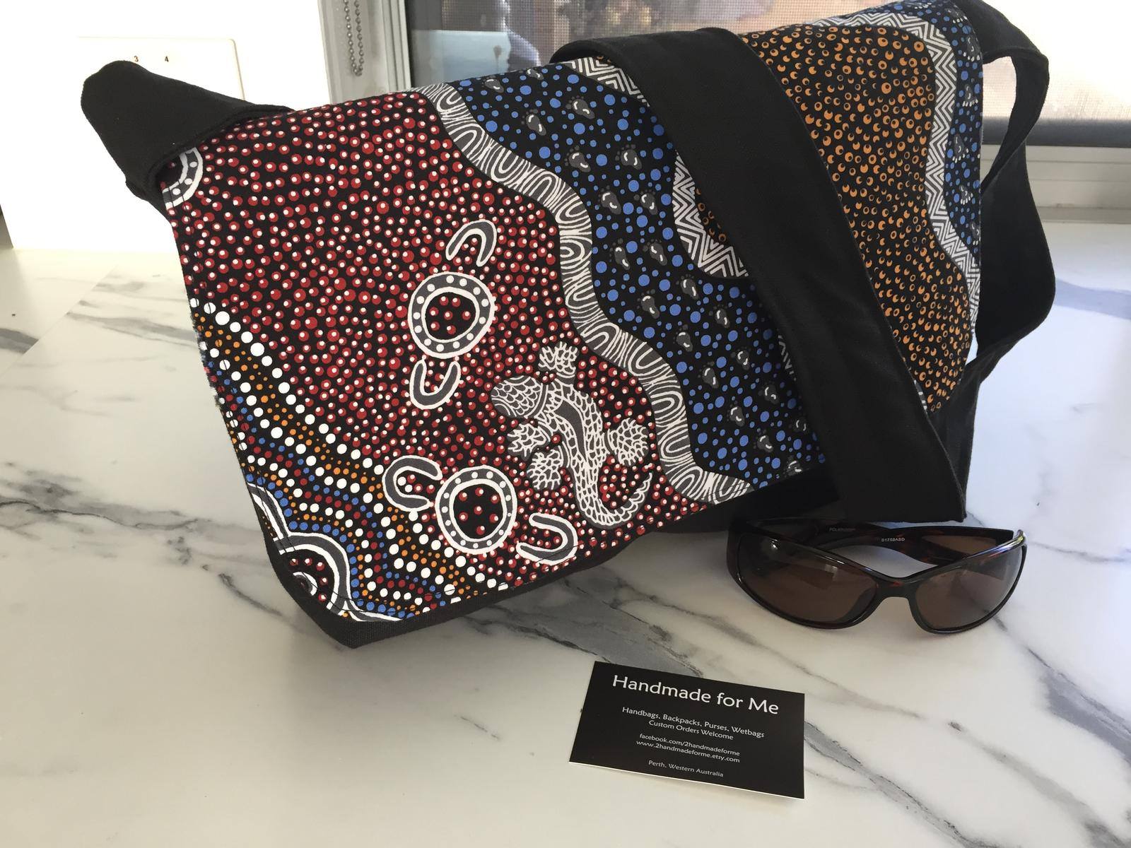 Aboriginal Goanna Design Messenger Bag