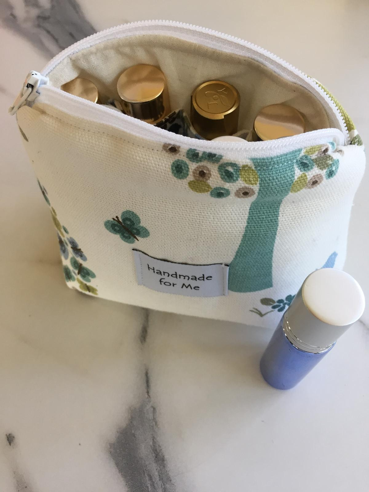 Small Essential Oil Roller Zippered Bag, essential oil gift